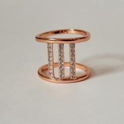 Paauksuotas Pilgrim žiedas su kristalais