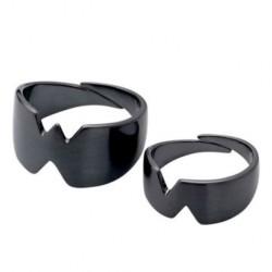 Juodos spalvos žiedų rinkinys Pilgrim