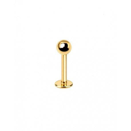 Aukso spalvos auskaras 1.2 mm