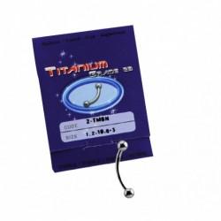 Sterilus titaninis auskaras į antakį (Titanium Micro Banana)