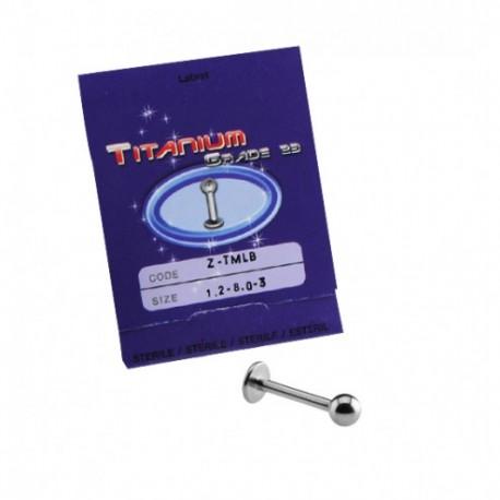 Sterilus titaninis auskras į lūpą