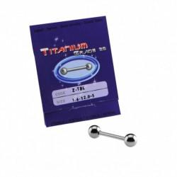 Sterilus titaninis auskras į liežuvį (Barbell)